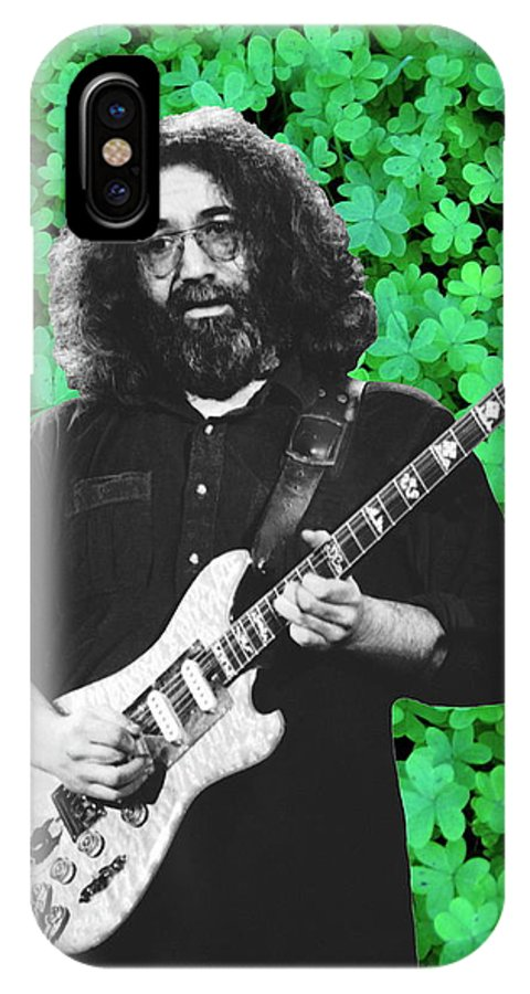 Jerry Garcia IPhone X Case featuring the photograph Jerry Clover 4 by Ben Upham