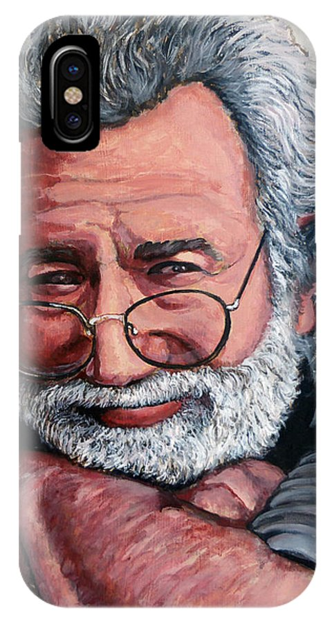 Jerry IPhone X Case featuring the painting Jerry Garcia by Tom Roderick
