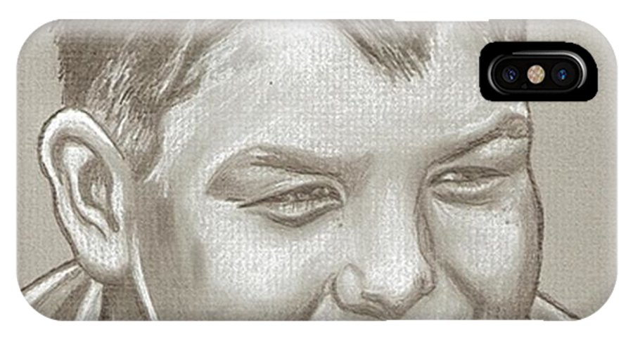 Jerry O'connell IPhone X Case featuring the drawing Jerry O'connell Drawing by Robert Crandall