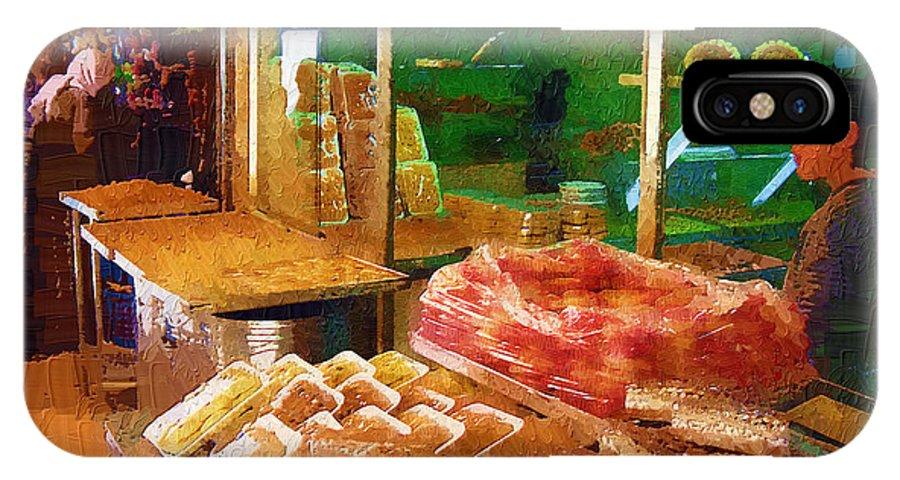Jerusalem Marketplace IPhone X Case featuring the digital art Jerusalem Marketplace by Rick Black