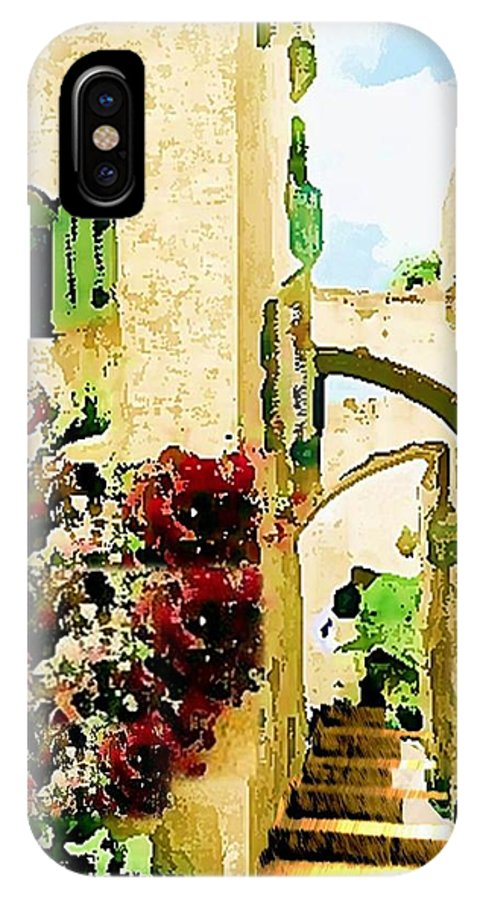 Jerusalem Old City IPhone X Case featuring the digital art Jerusalem Old City by Prosper Abitbol