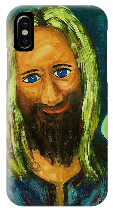 Jesus IPhone X Case featuring the photograph Jesus And Dove by Esther Rowden