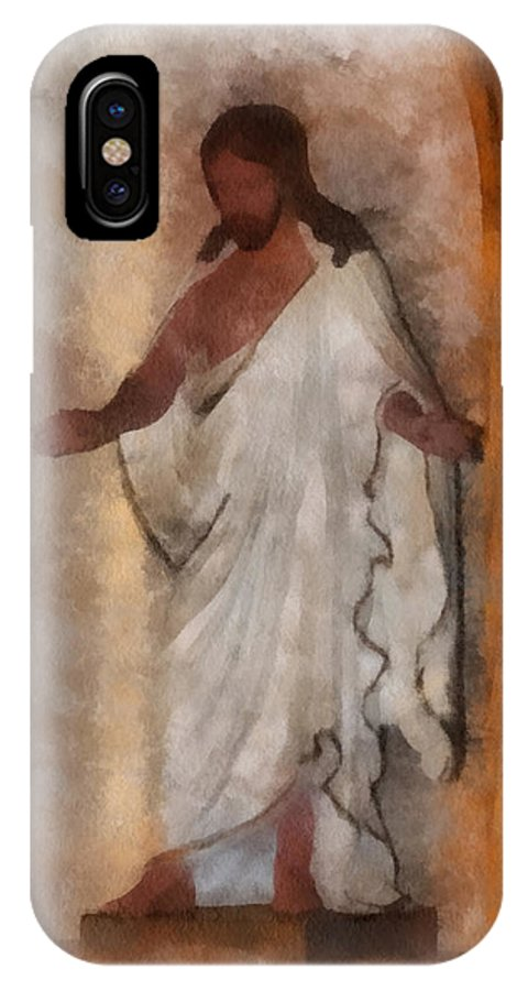 Jesus IPhone X Case featuring the photograph Jesus Photo Art by Thomas Woolworth