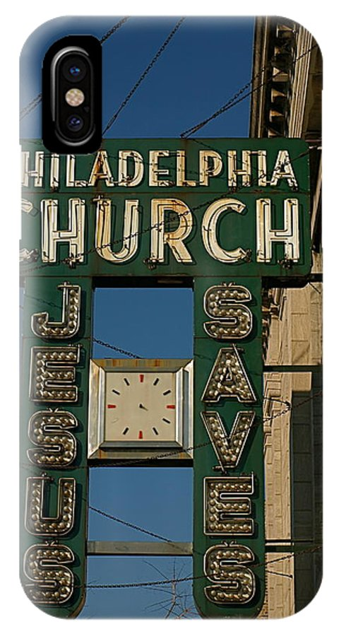 Philadelphia Church IPhone X Case featuring the photograph Jesus Saves by Gia Marie Houck