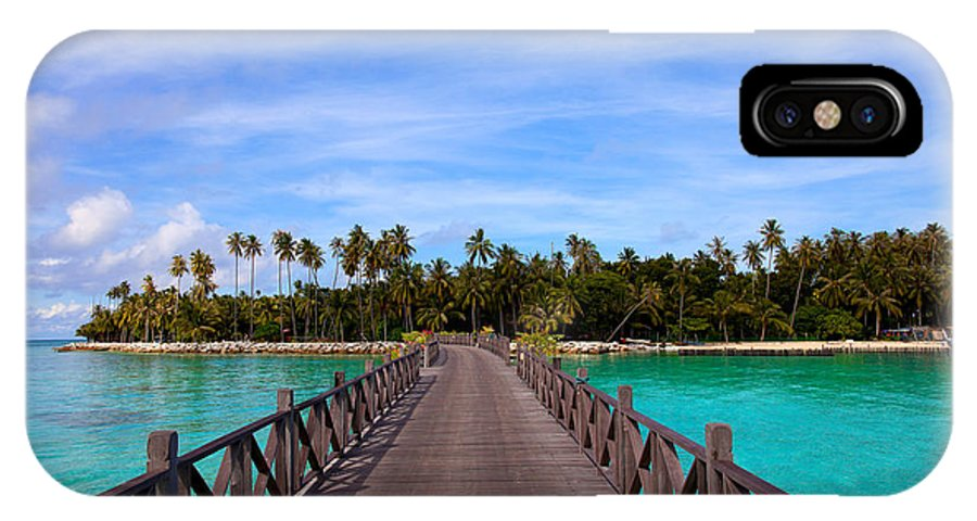 Travel IPhone X Case featuring the photograph Jetty On Tropical Island by Fototrav Print