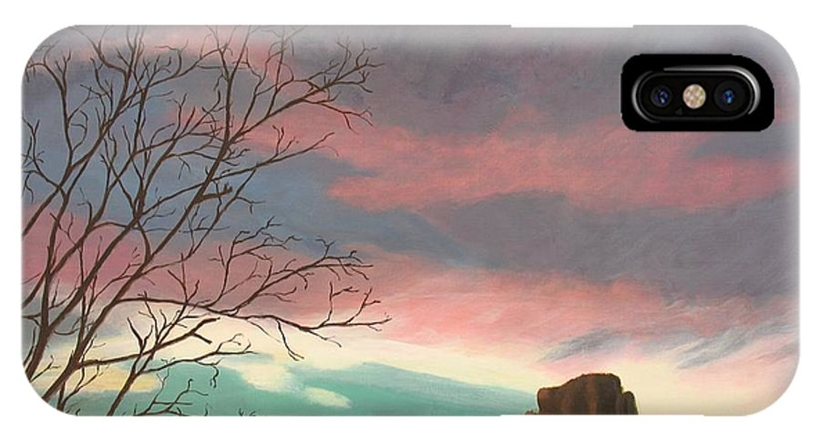 Sedona IPhone X Case featuring the painting Jewels In The Sky by Janis Mock-Jones