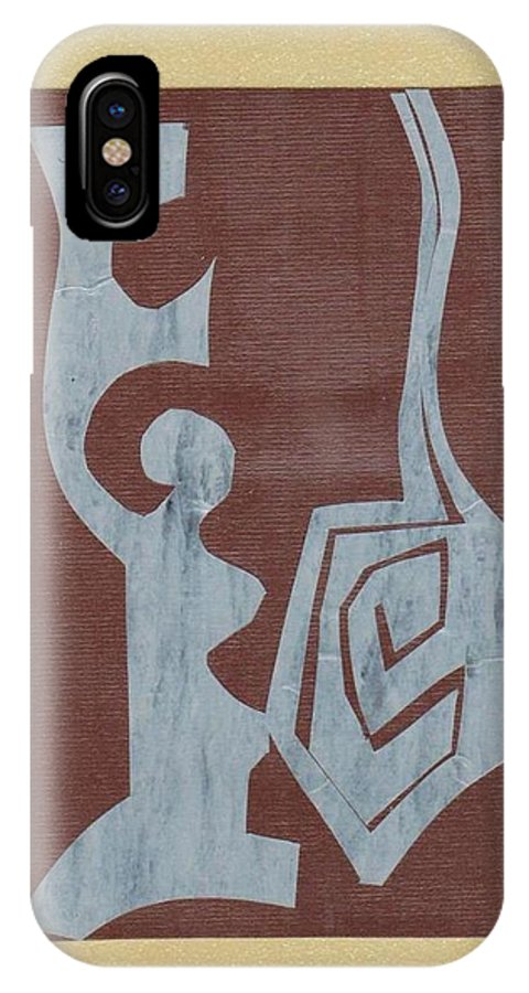 Original IPhone X Case featuring the painting Jewish Motif by Patricia Cleasby