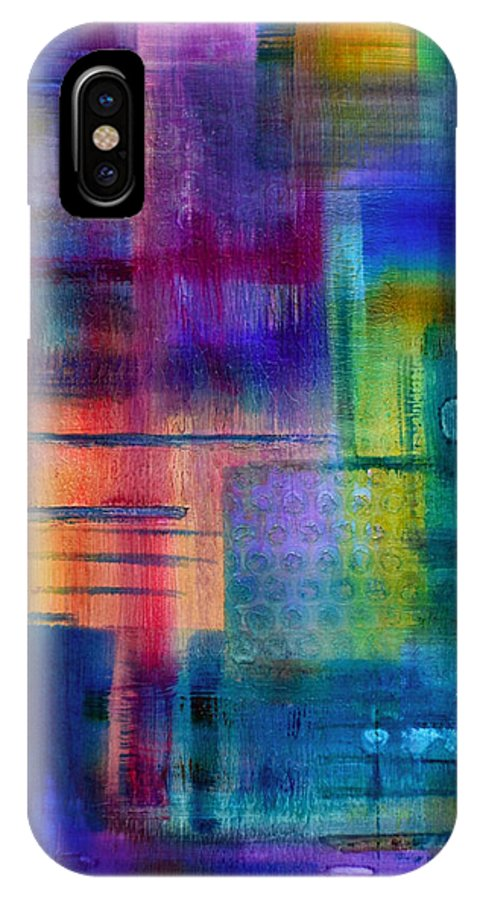 Abstract Paintings IPhone X / XS Case featuring the painting Jibe Joist II by Moon Stumpp