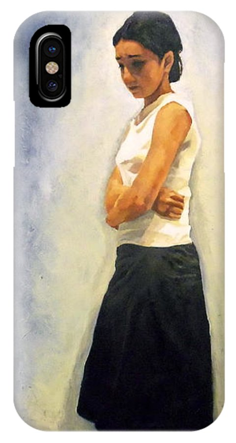 Jill IPhone X Case featuring the painting Jill by Breanna Moran