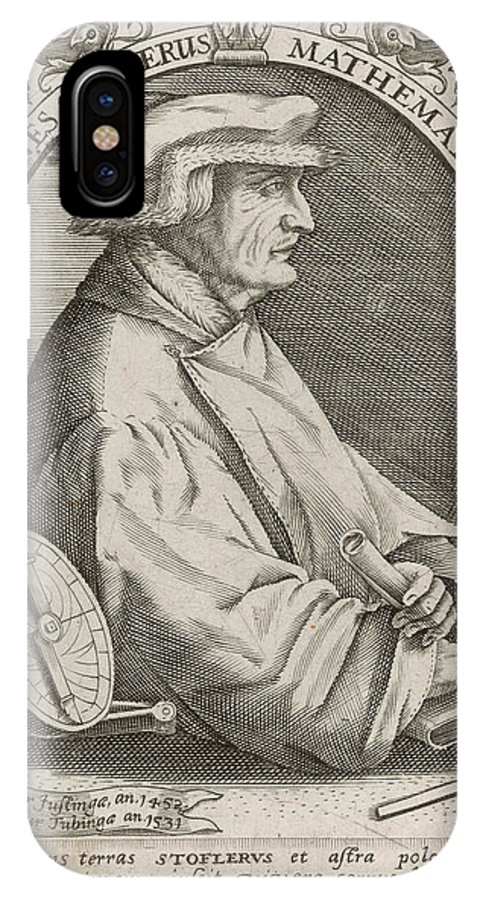 Johann IPhone X Case featuring the drawing Johann Stoffler (1452 - 1531) German by Mary Evans Picture Library