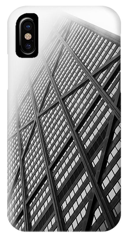 1969 IPhone X Case featuring the photograph John Hancock Center - 05.14.11_041 by Paul Hasara