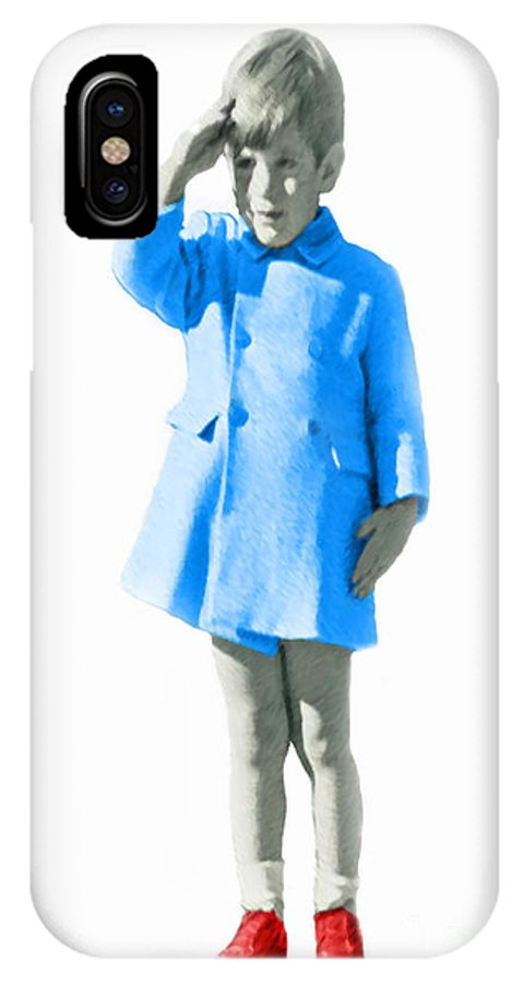 Jackie IPhone X Case featuring the photograph John John Kennedy by Jost Houk