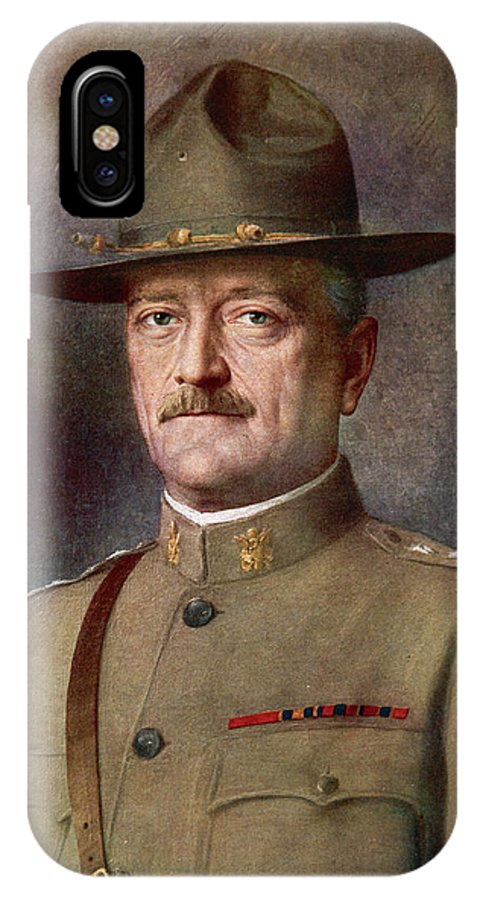 Pershing IPhone X Case featuring the drawing John Joseph Pershing  Nicknamed Black by Mary Evans Picture Library