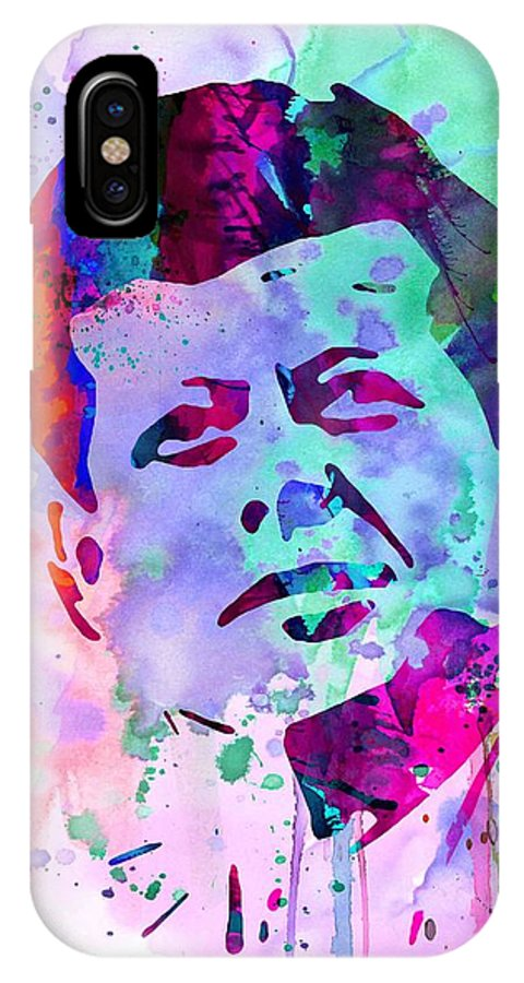 Jfk IPhone X Case featuring the painting John Kennedy Watercolor by Naxart Studio