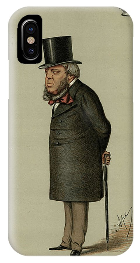 Marlborough IPhone X Case featuring the drawing John Winston Spencer-churchill, 7th by Mary Evans Picture Library
