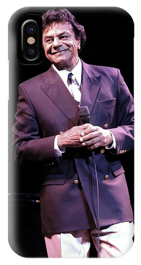 Actor IPhone X Case featuring the photograph Johnny Mathis by Concert Photos