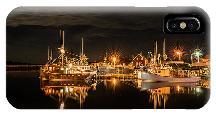 Boats IPhone X Case featuring the photograph John's Cove Reflections by Garvin Hunter
