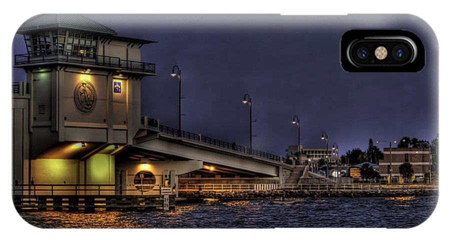 Sunset IPhone X Case featuring the photograph John's Pass Bridge by Jay Droggitis