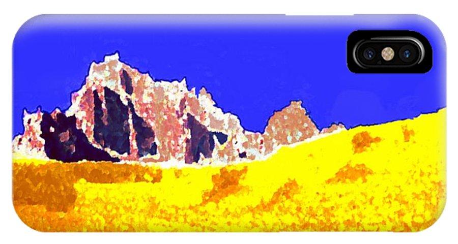 Landscape IPhone X Case featuring the digital art Jordan desert. Morning by Dr Loifer Vladimir