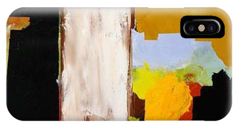 Landscape IPhone X Case featuring the painting Jordan Park 511 by Allan P Friedlander