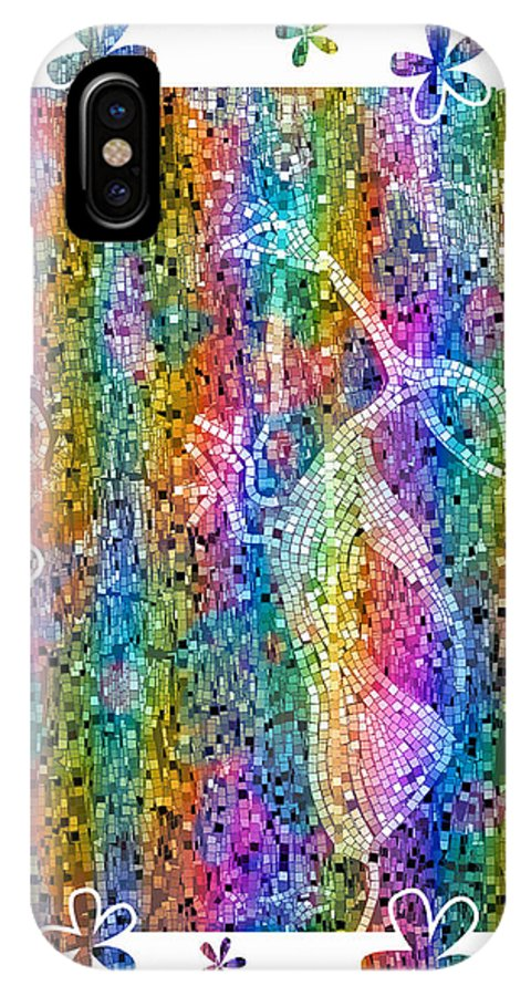 Petroglyph IPhone X Case featuring the photograph Jornada Rave I by Kurt Van Wagner