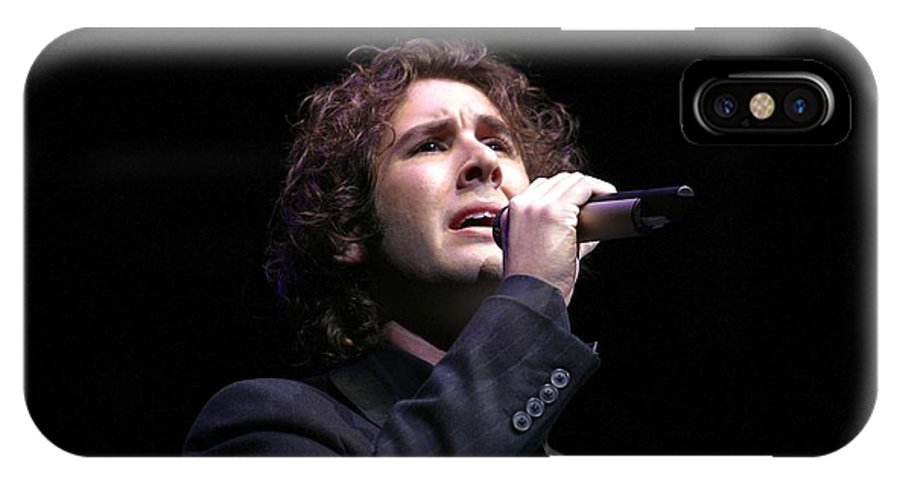 Performing IPhone X Case featuring the photograph Josh Groban by Concert Photos