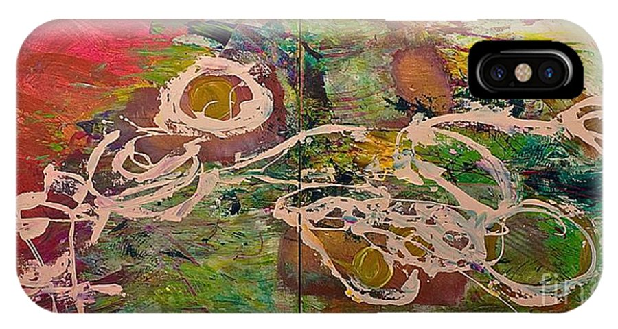 Landscape IPhone Case featuring the painting Journey Forth by Allan P Friedlander