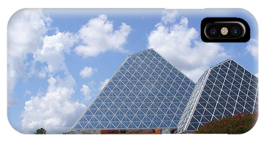 Epcot Centre Theme Park IPhone X Case featuring the photograph Journey Into Imagination With Figment by Lingfai Leung