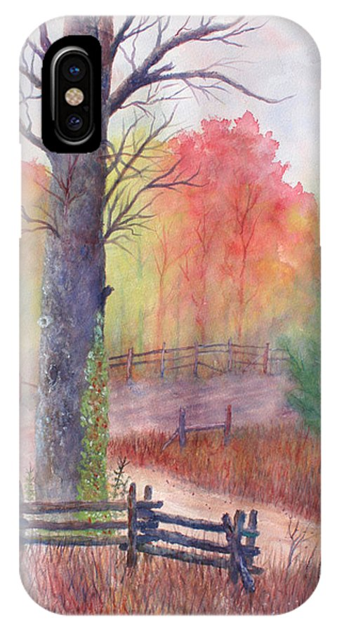 Fall IPhone X Case featuring the painting Joy of Fall by Ben Kiger