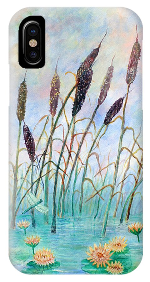 Pond IPhone X Case featuring the painting Joy Of Summer by Ben Kiger