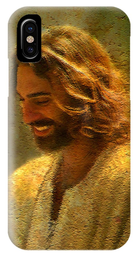 Jesus IPhone X Case featuring the painting Joy of the Lord by Greg Olsen
