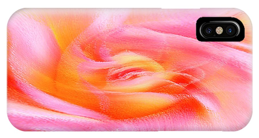 Floral Abstract IPhone X Case featuring the photograph Joy - Rose by Ben and Raisa Gertsberg
