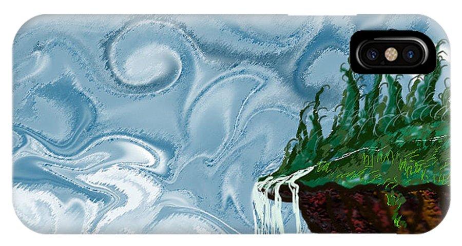 Water IPhone X Case featuring the digital art Joyful Morning by Jan Leppert