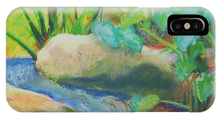 Yoapon Creek IPhone X / XS Case featuring the painting Joyful by Patricia Collins-Perkey