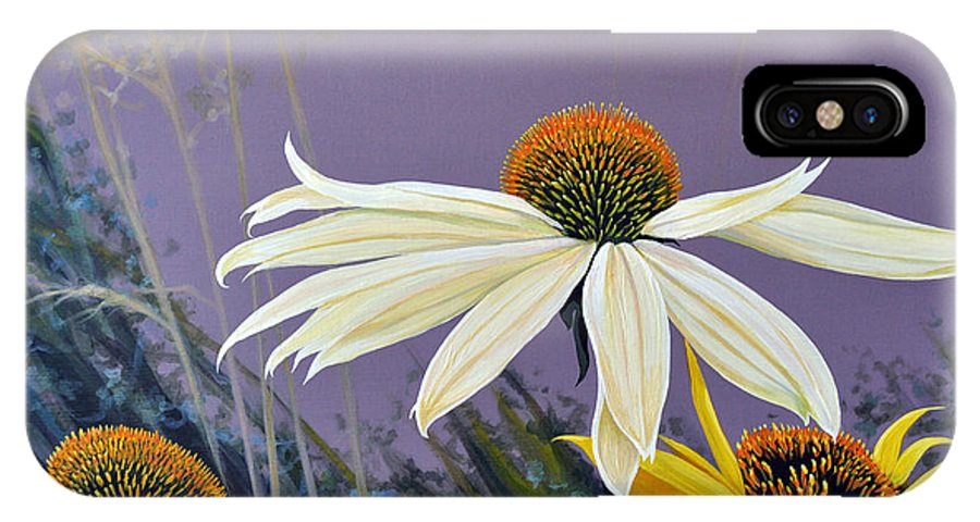 Botanical IPhone X Case featuring the painting Jubilant by Hunter Jay