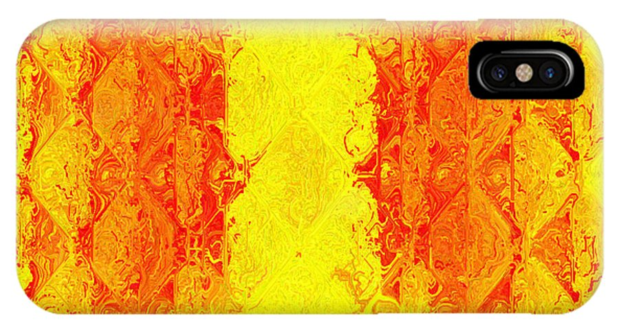 Abstract IPhone X Case featuring the digital art Juice by Charmaine Zoe