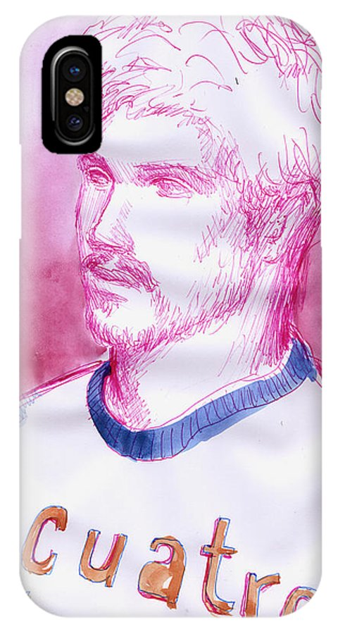 Boy IPhone X Case featuring the painting July 4th Cuatro De Julio by Line Arion
