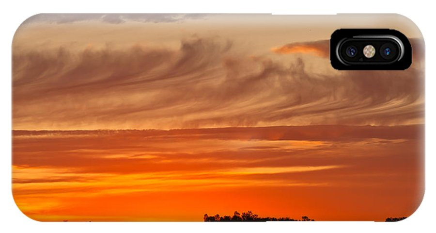 070410 IPhone X Case featuring the photograph July 4th Sunset by Wayne Vedvig