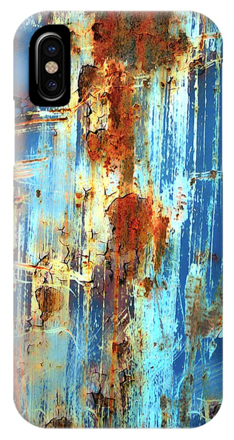Abstract Art IPhone X Case featuring the photograph Jungle Rain by The Artist Project