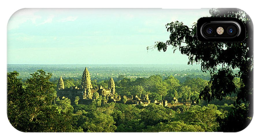 Cambodia IPhone X Case featuring the photograph Jungle Temple 01 by Rick Piper Photography