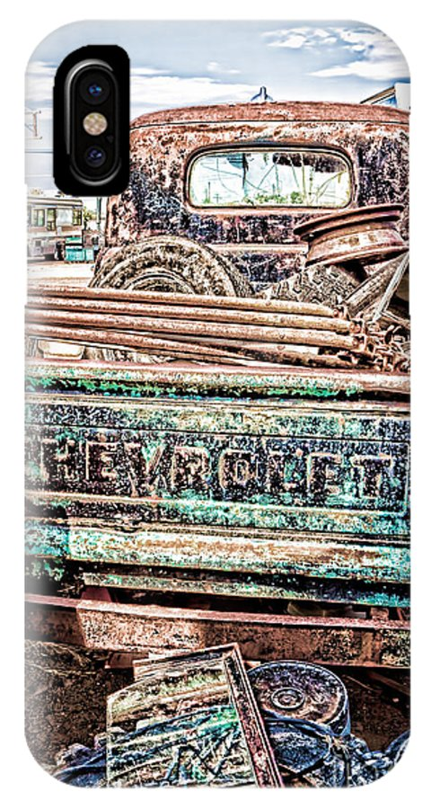 Chevy Bed IPhone X Case featuring the photograph Junk Or Treasure by Lawrence Burry