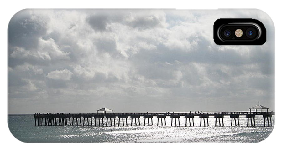Juno Beach IPhone X Case featuring the photograph Juno Beach Pier by Catie Canetti