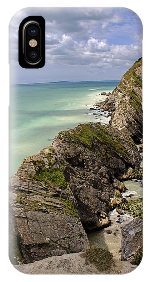 Lulworth Cove IPhone X Case featuring the photograph Jurassic Coast From Lulworth Cove by Tony Murtagh