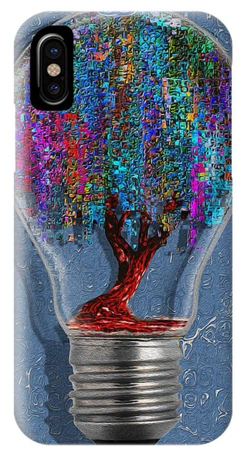 Digital IPhone X Case featuring the painting Just An Idea by Jack Zulli