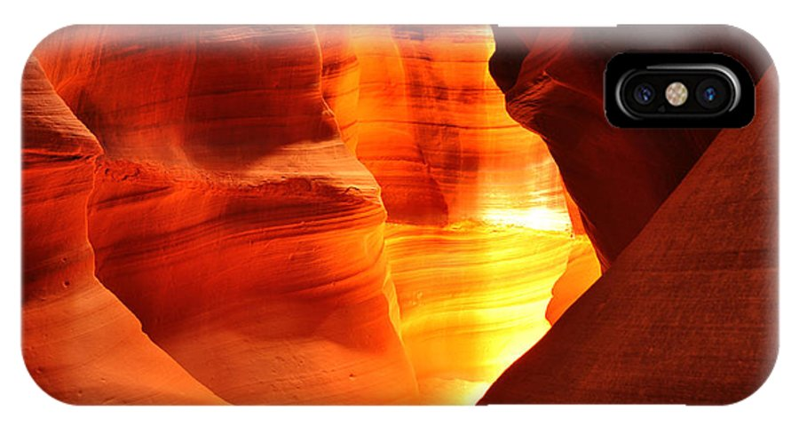 Antelope Canyon IPhone X Case featuring the photograph Just Around The Bend by Andrew Broom