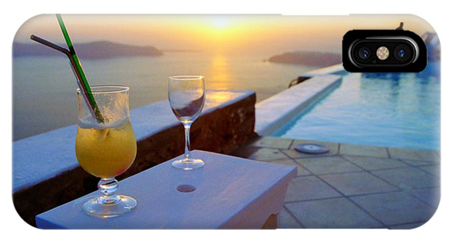 Caldera IPhone X Case featuring the photograph Just Before Sunset In Santorini by Madeline Ellis