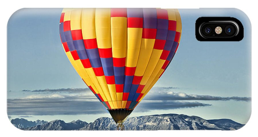 Hot Air Balloon IPhone X Case featuring the photograph Just Dropped In by Diana Powell