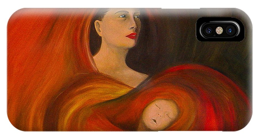 Verve IPhone Case featuring the painting ..just Love.. by Fanny Diaz