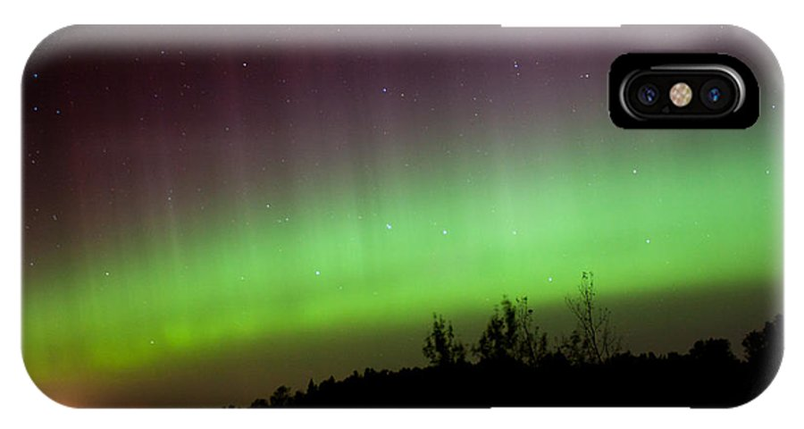 Auroras IPhone X Case featuring the photograph Just The Start by Jamie Rabold