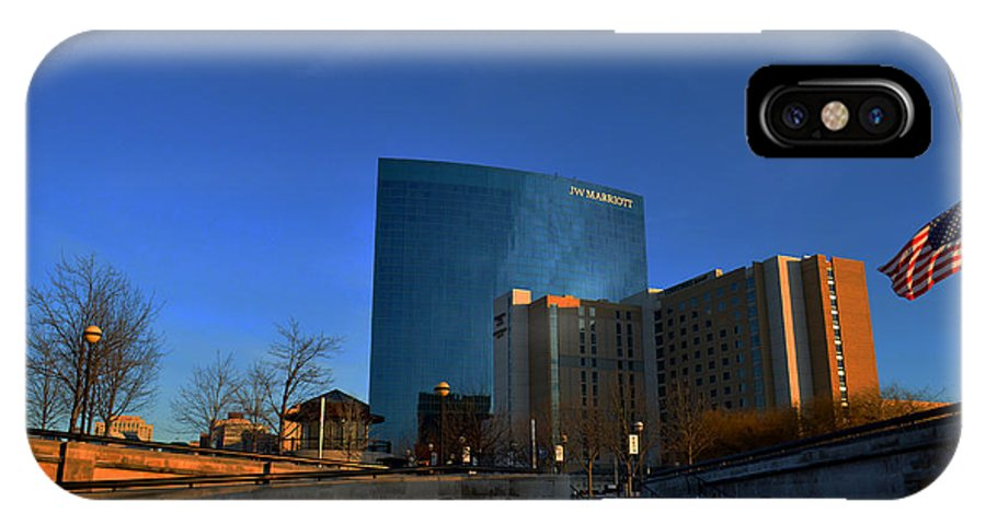 Jw Marriott Hotel IPhone X Case featuring the photograph Jw Marriott On The Canal Indianapolis by David Haskett II
